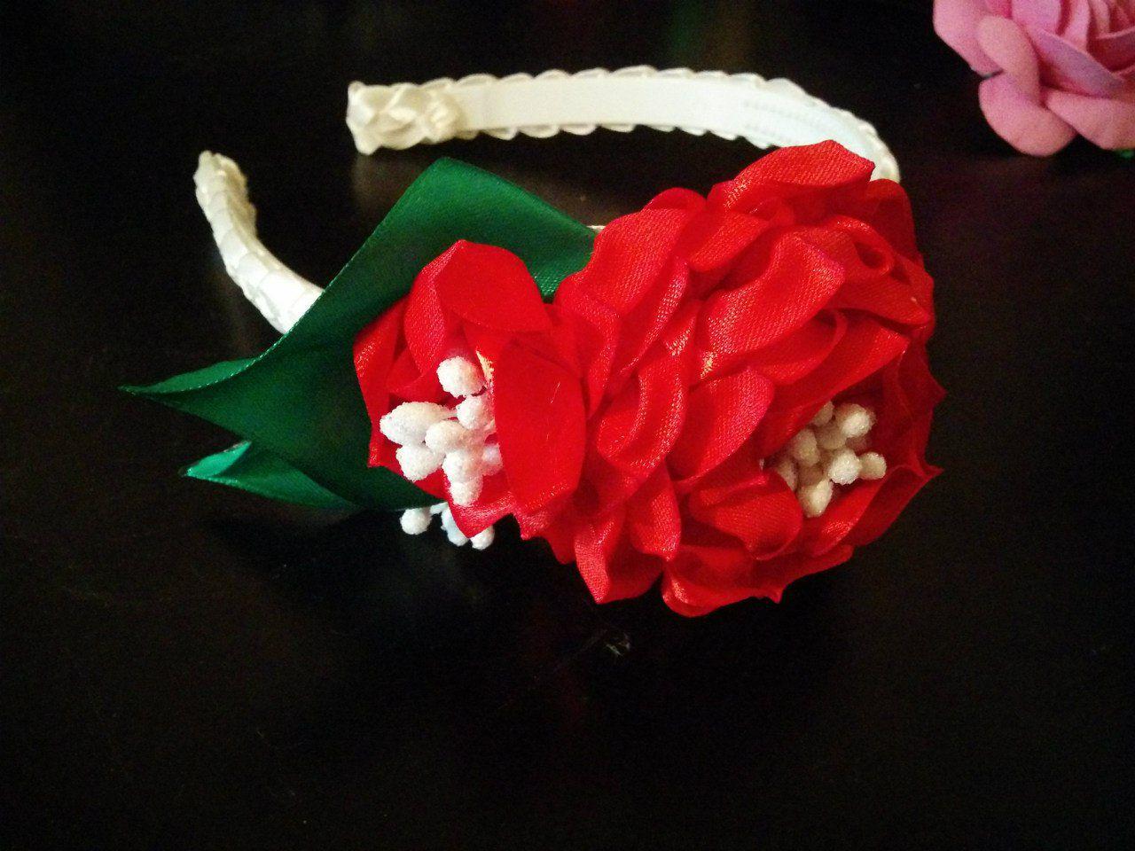 девочкам лент ободки для волос украшения цветы подарки