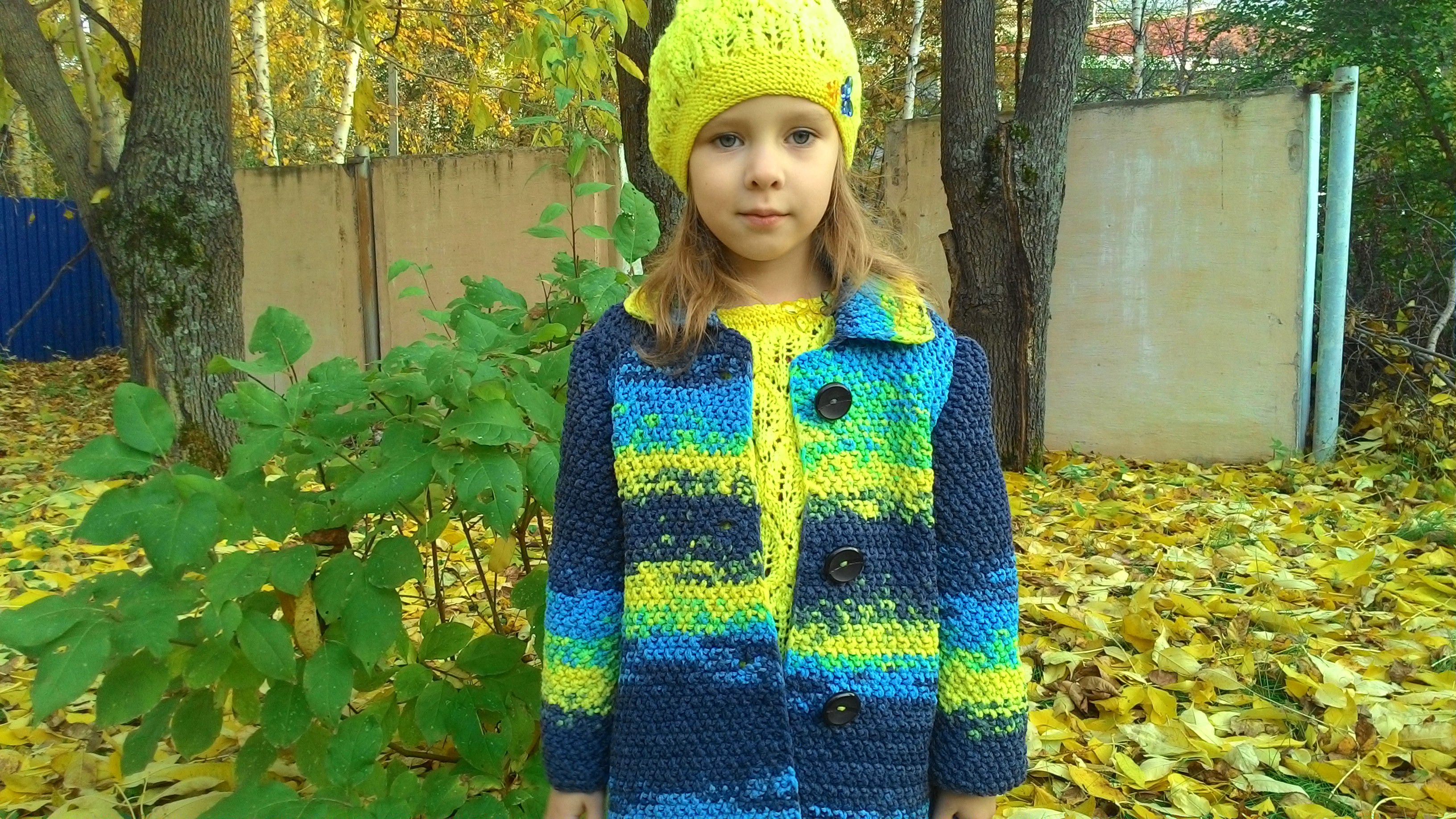 спицами осенний девочек яркое осеннее детское одежда детская пальто вязание для детский кардиган яркий