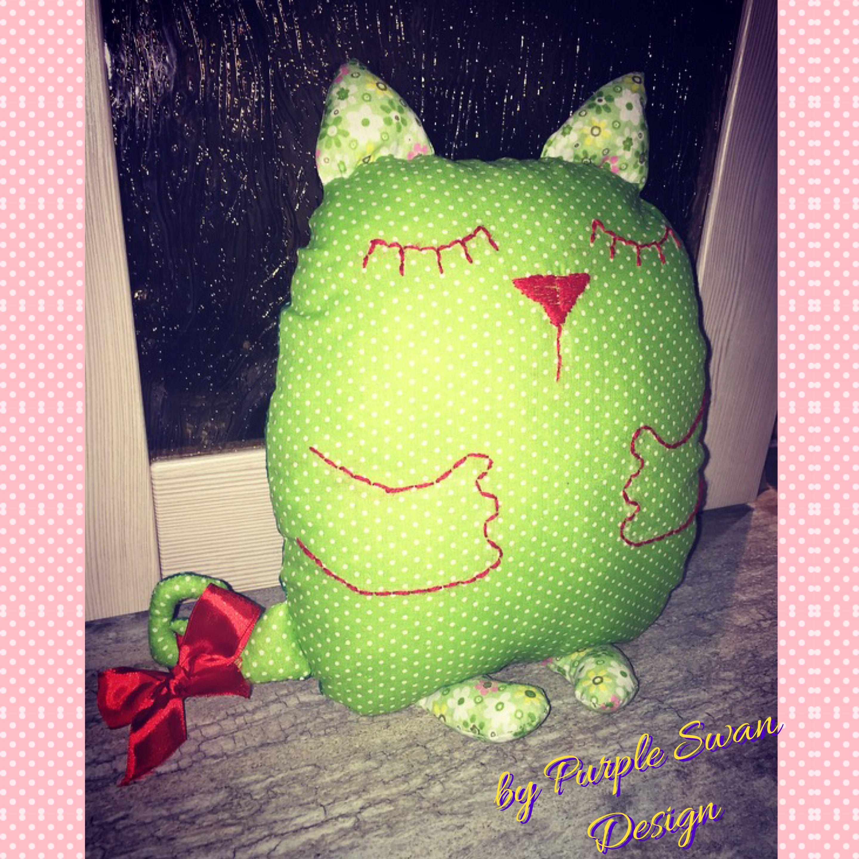 котик интерьер игрушка подушка дети