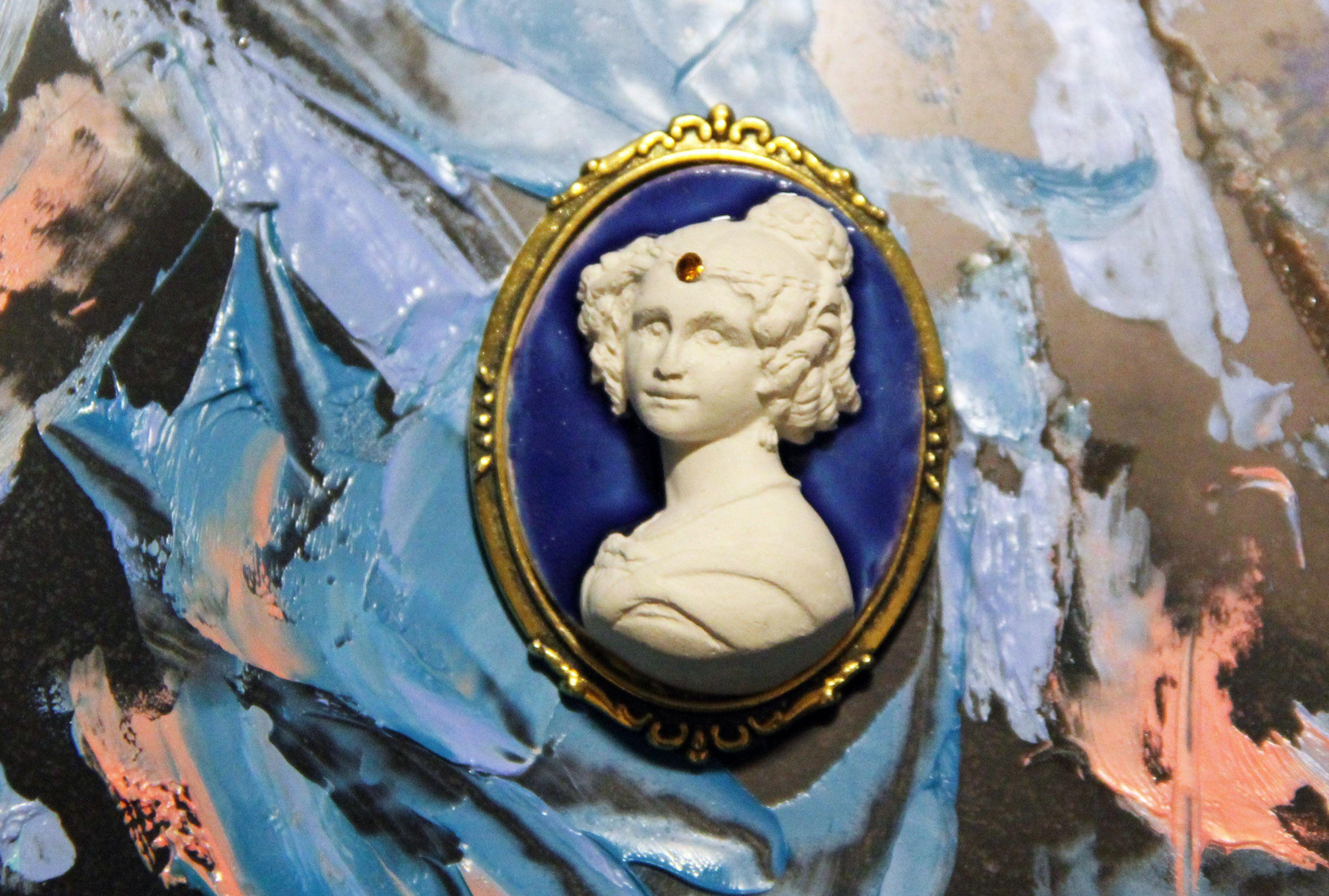 винтаж девушки камея для украшение изысканное ручнаяброшь работа подарок ручнаяработа