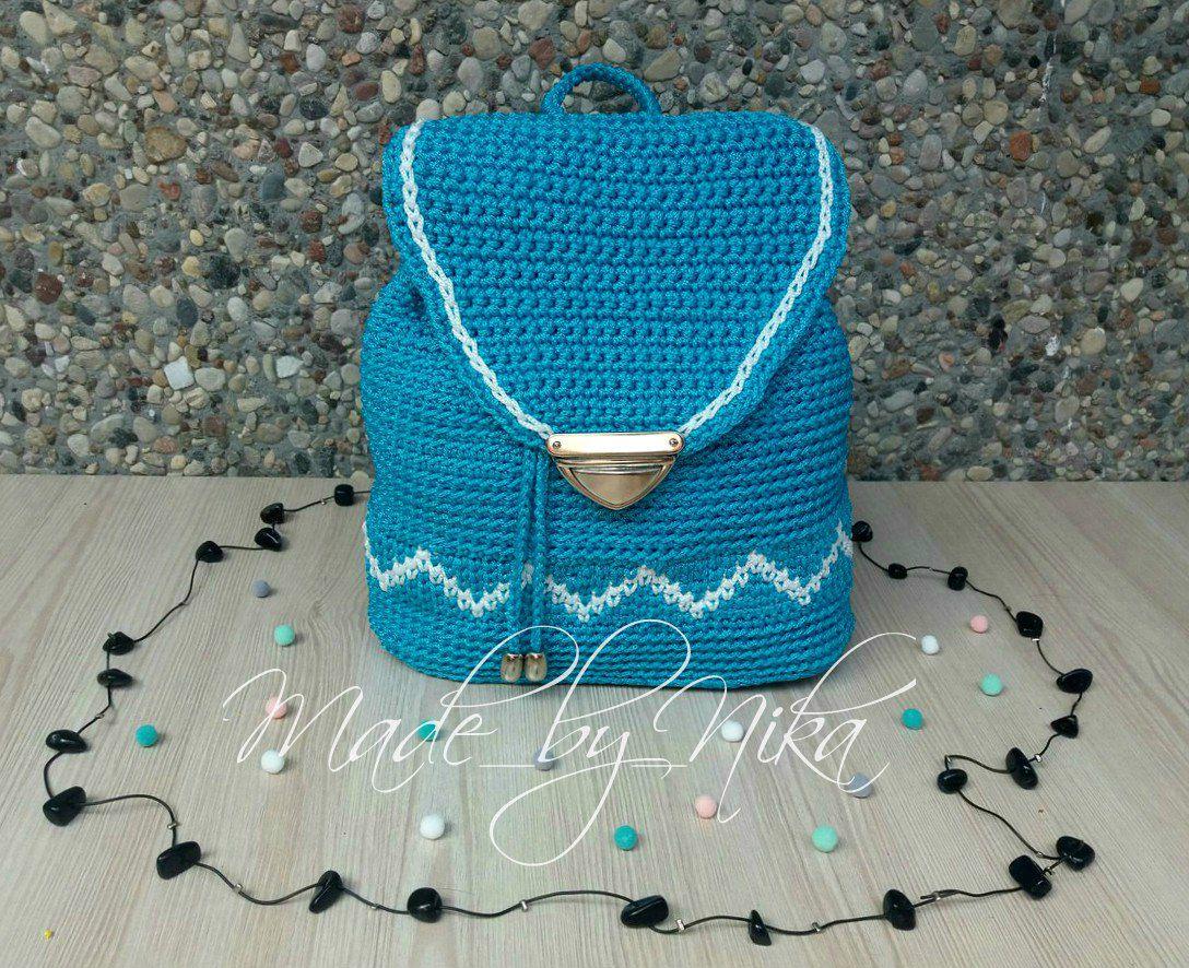 made_by_nika ручнаяработа вязаный длядетей вязание рюкзак сумка назаказ подарок крючком