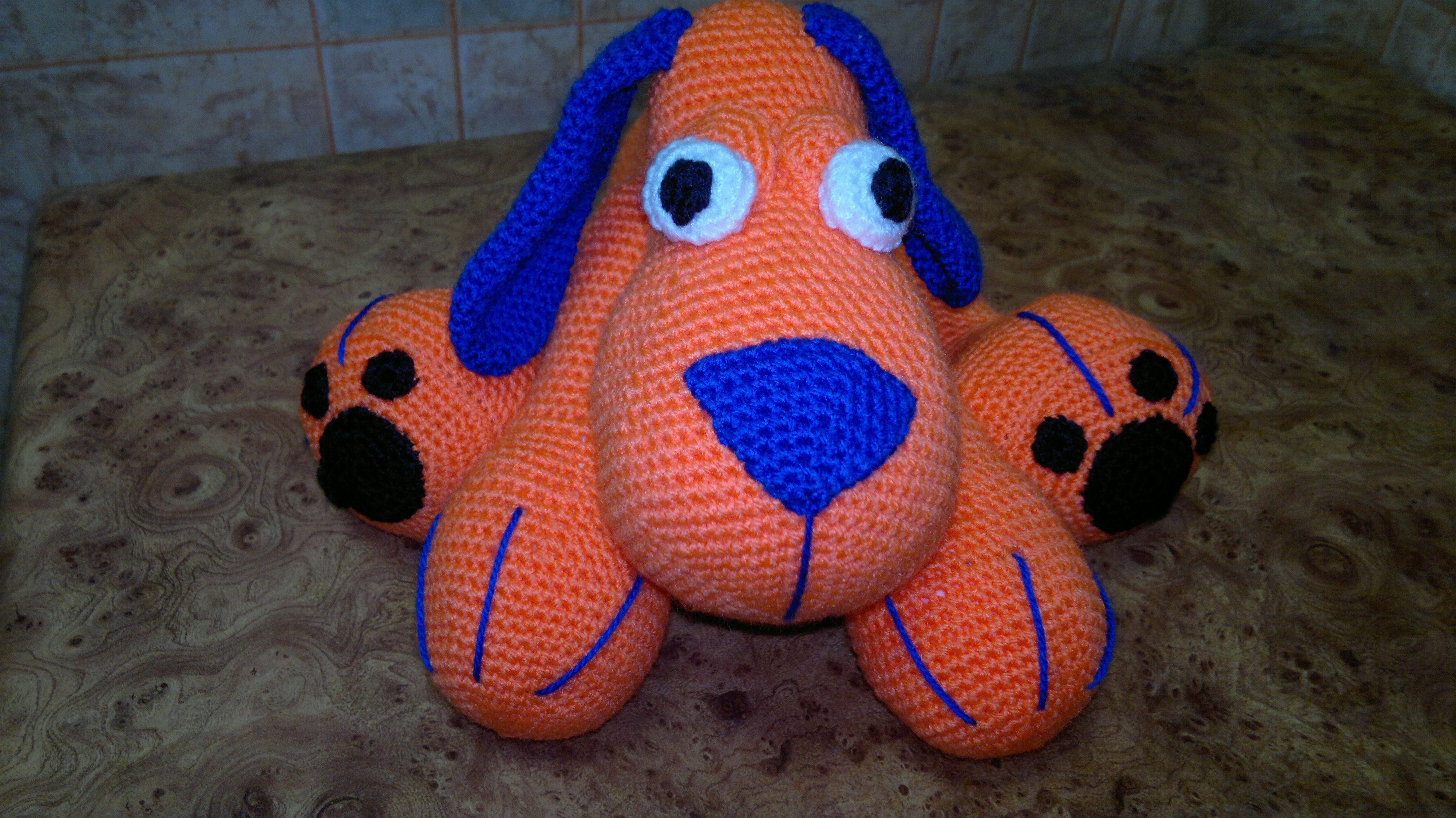 вязаная игрушки подарки вязаные собака