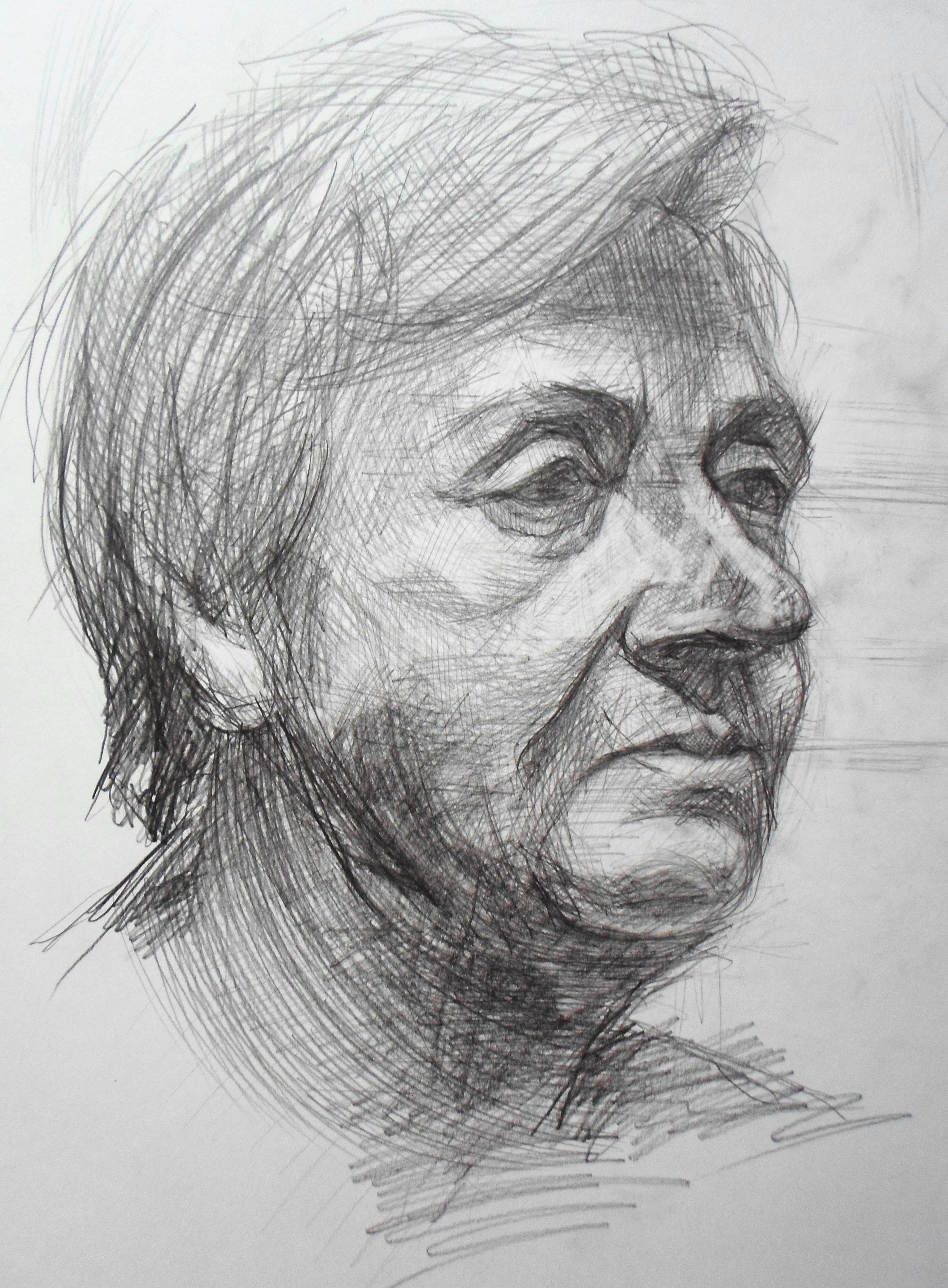 изобразительное женщина карандаш портрет современное искусство