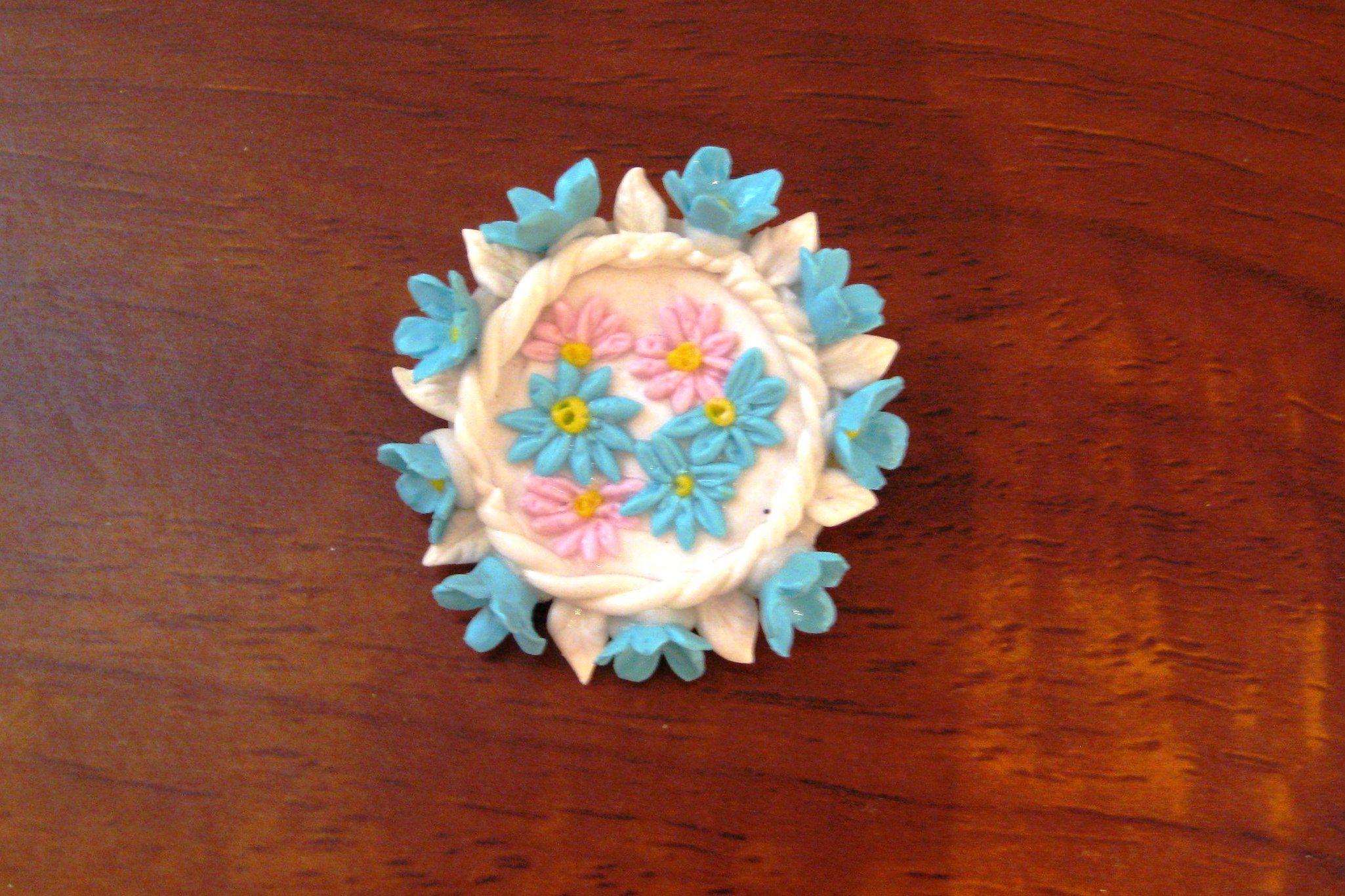 ручнаяработа уникальныйподарок брошь handmade цветы полимернаяглина творчество бижутерия