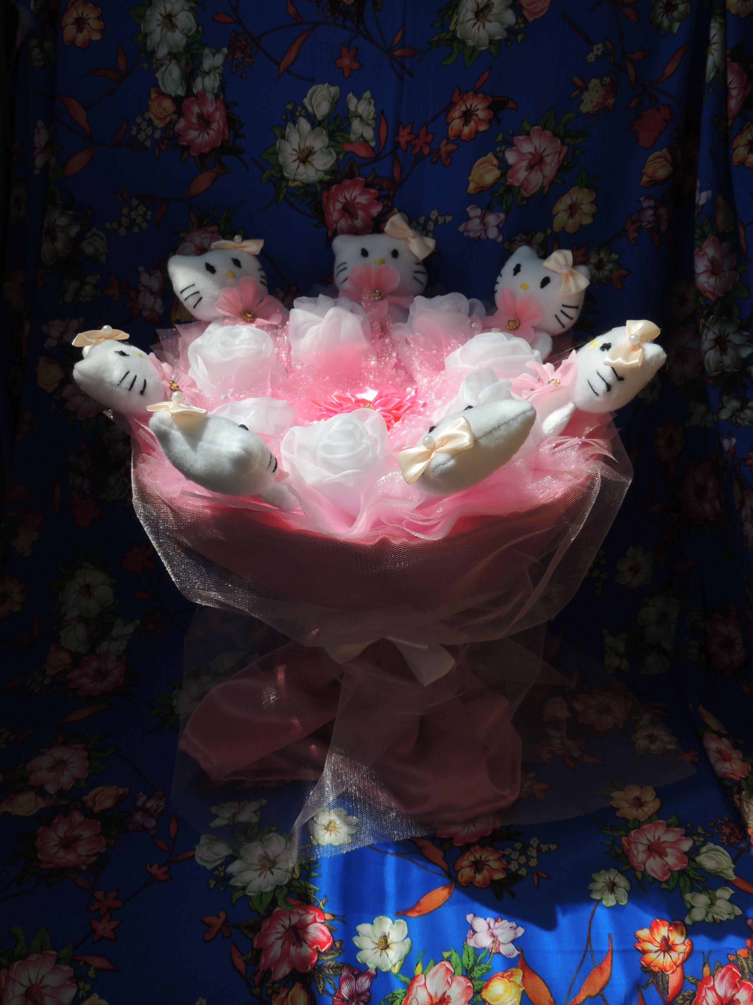 необычный подарок игрушек букет китти оригинальный