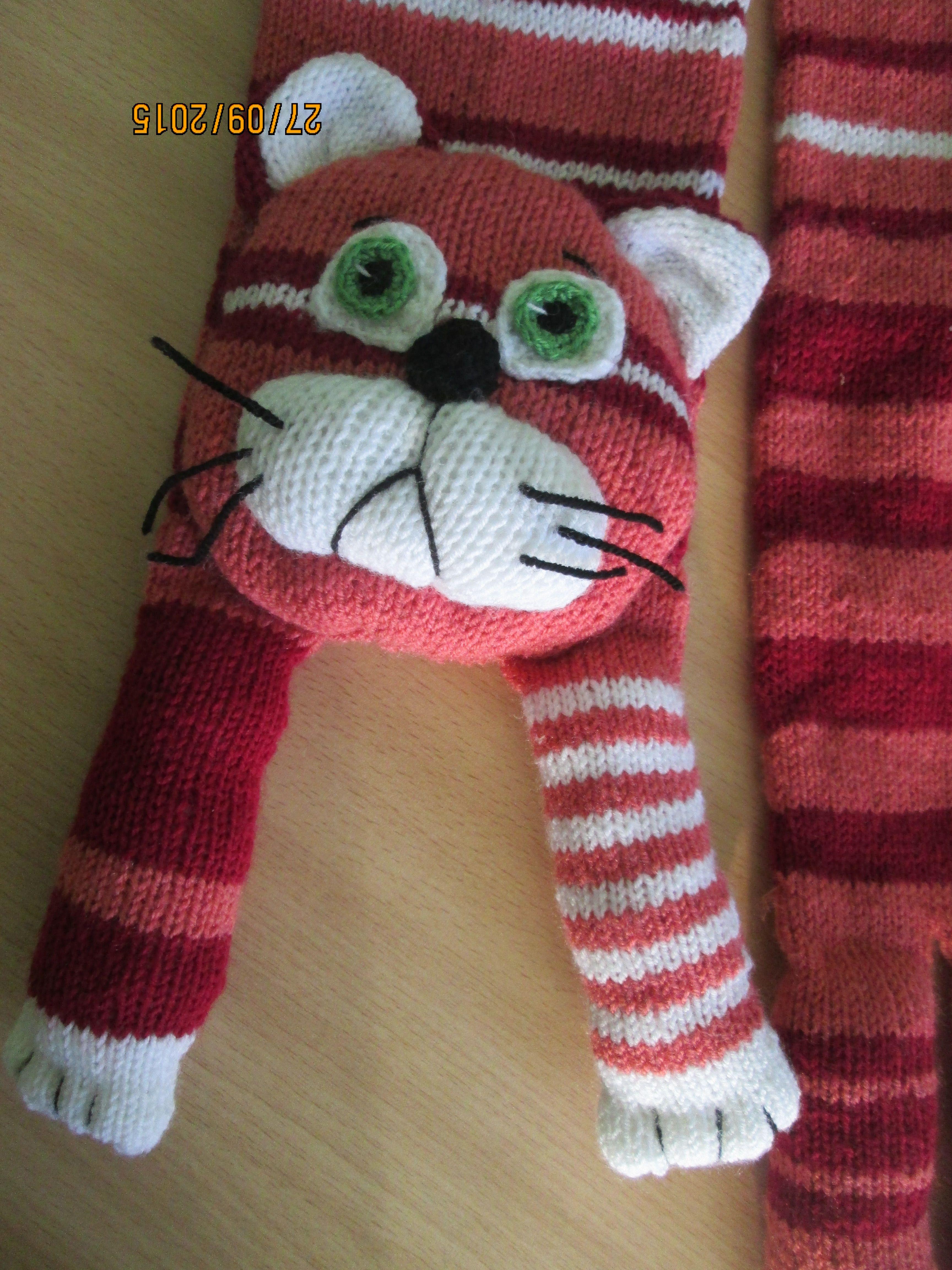 теплый зимний детский котошарф шарф-кот котошарфик шарф