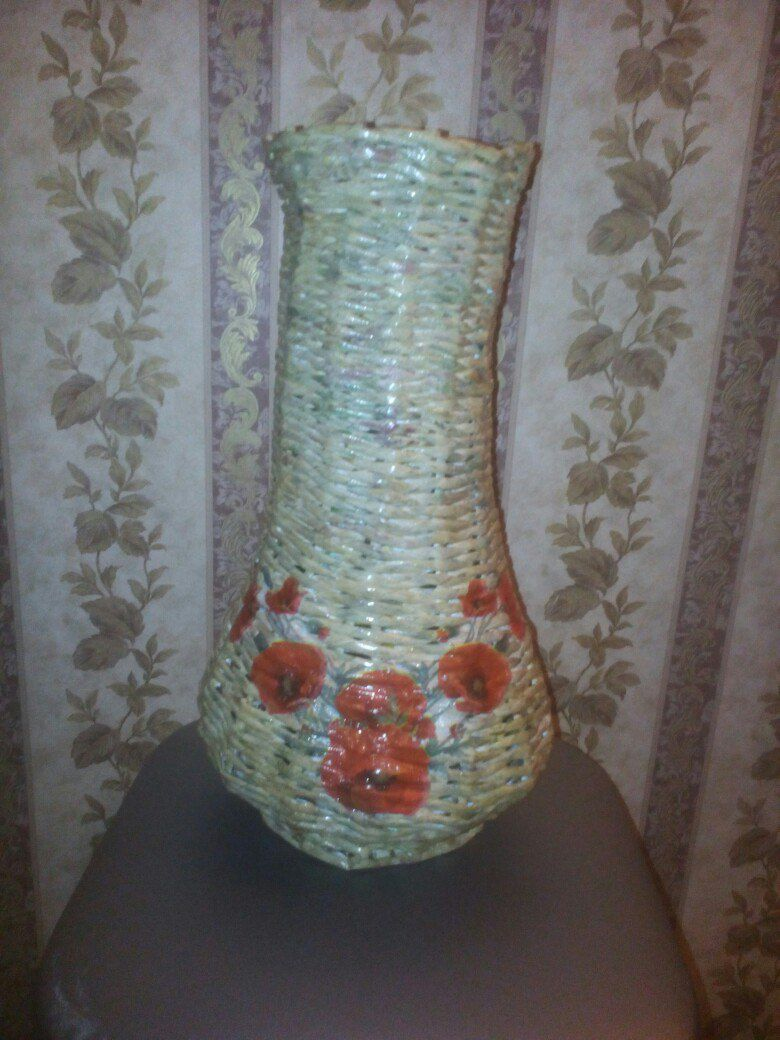 плетение ваза корзина