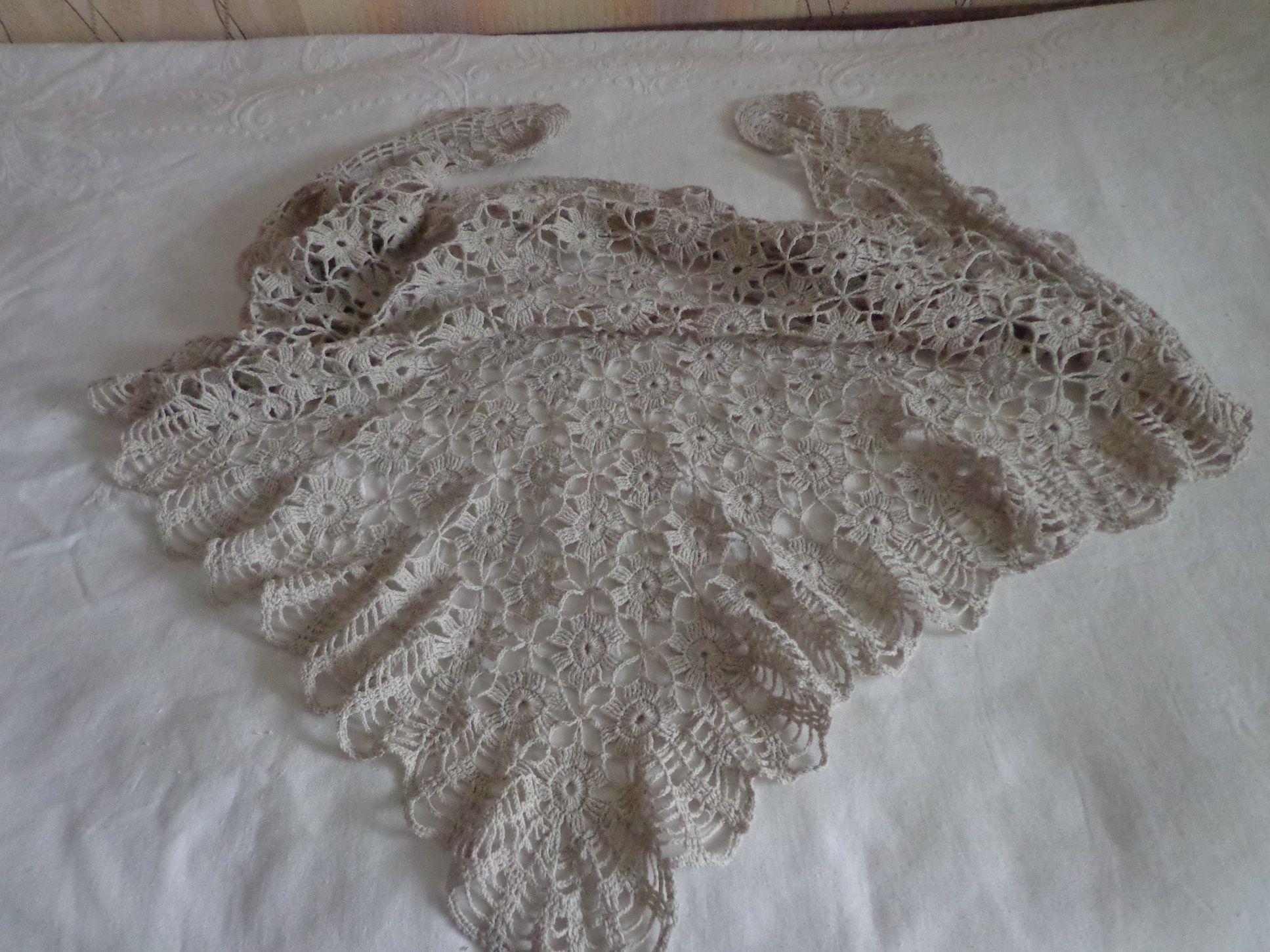 летняя нарядная шаль льняная