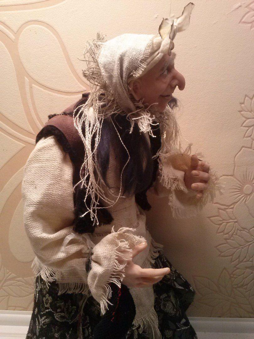 бабаяга ксении орловой куклы работа кукла подарок авторская