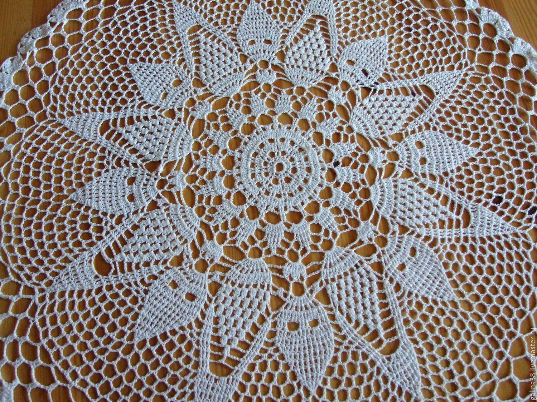 скатерть ажурная подарок салфетка украшение дома вязаная