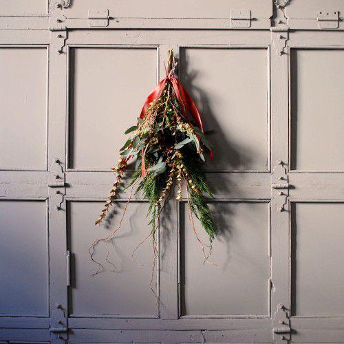 дверь букет декор цветы