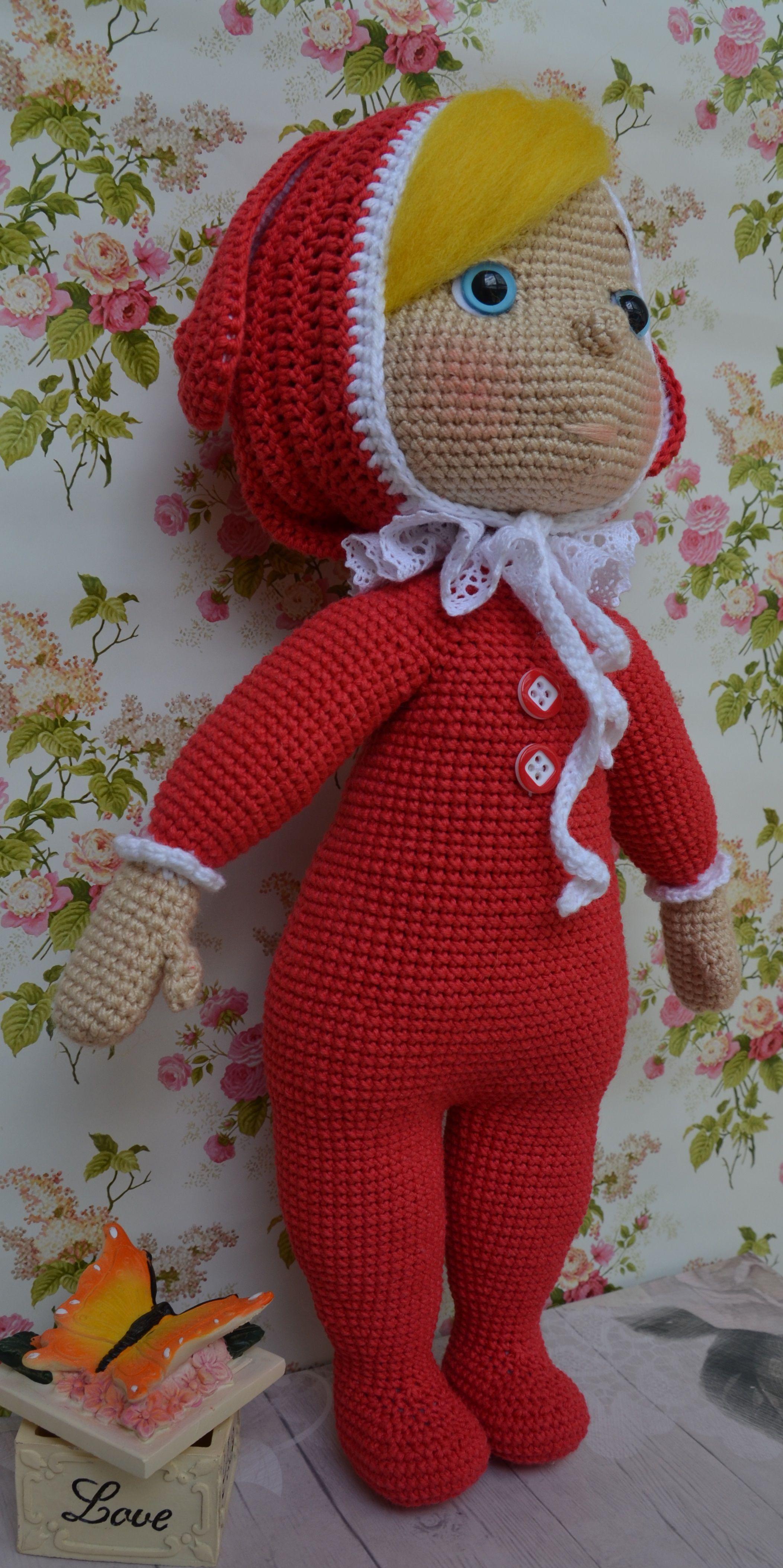 игрушка кукла детям мягкая крючком
