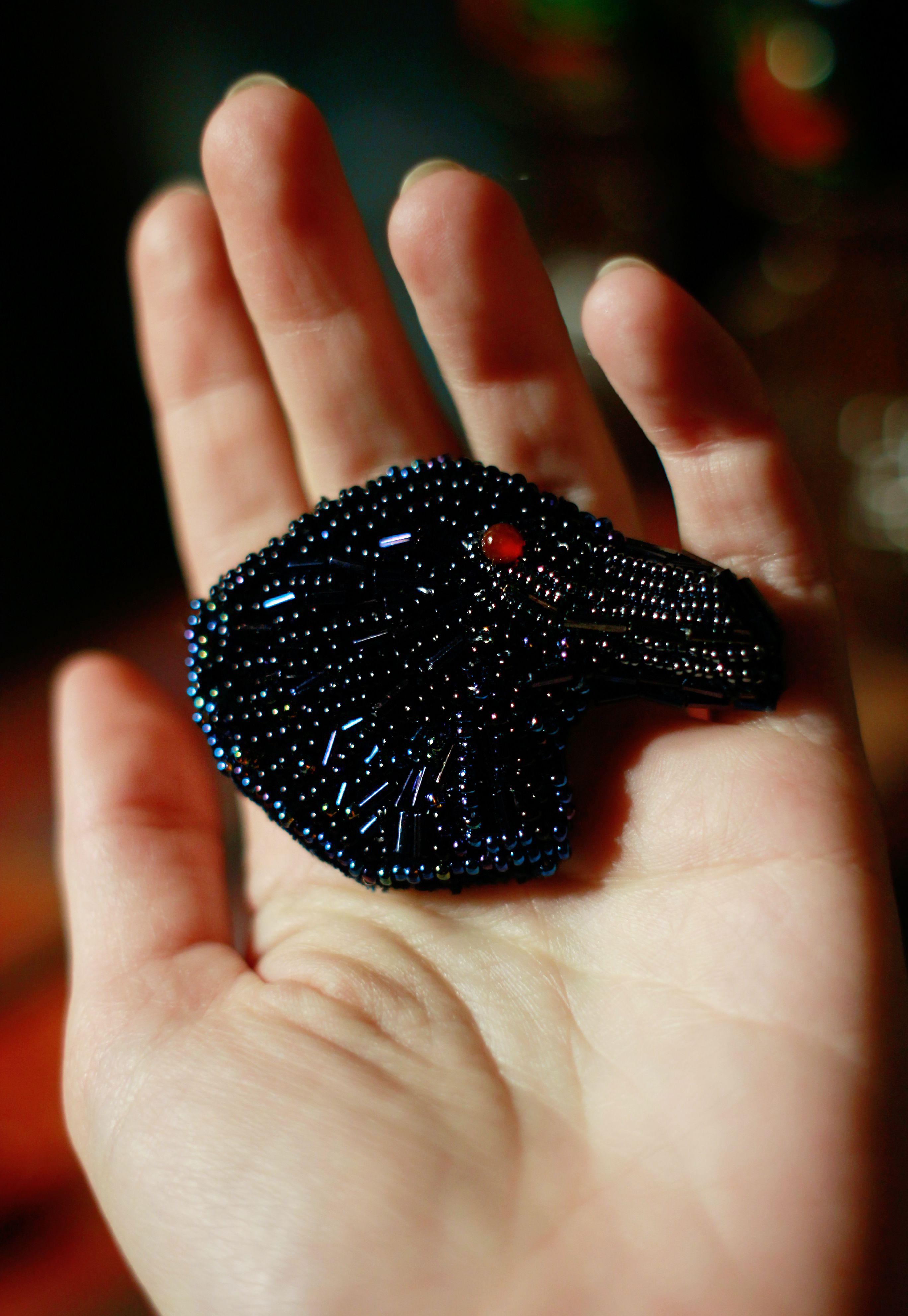 чёрный подарок брошь необычная вороной эдгар вещий ворон