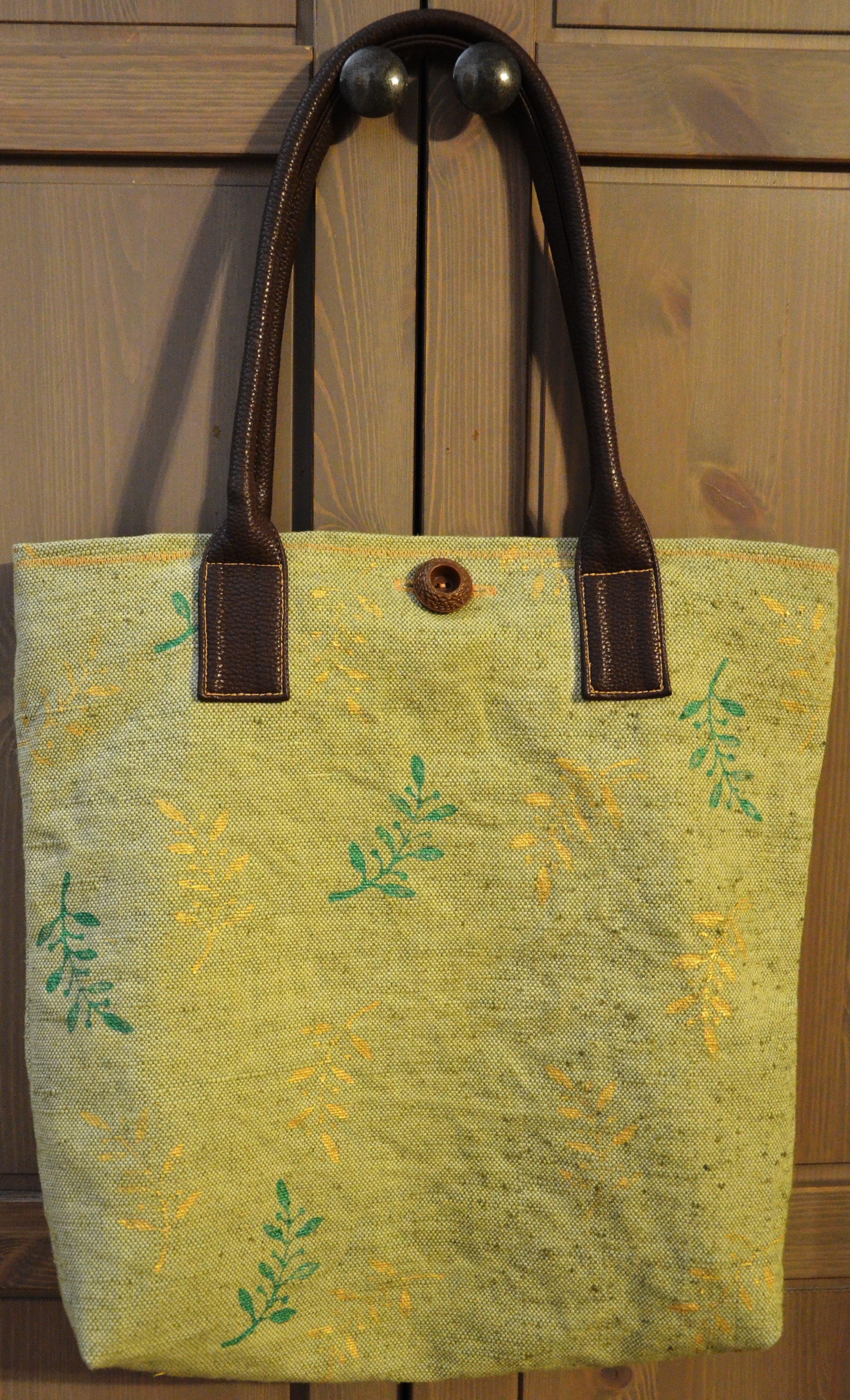 сумка набойка экостиль handmade