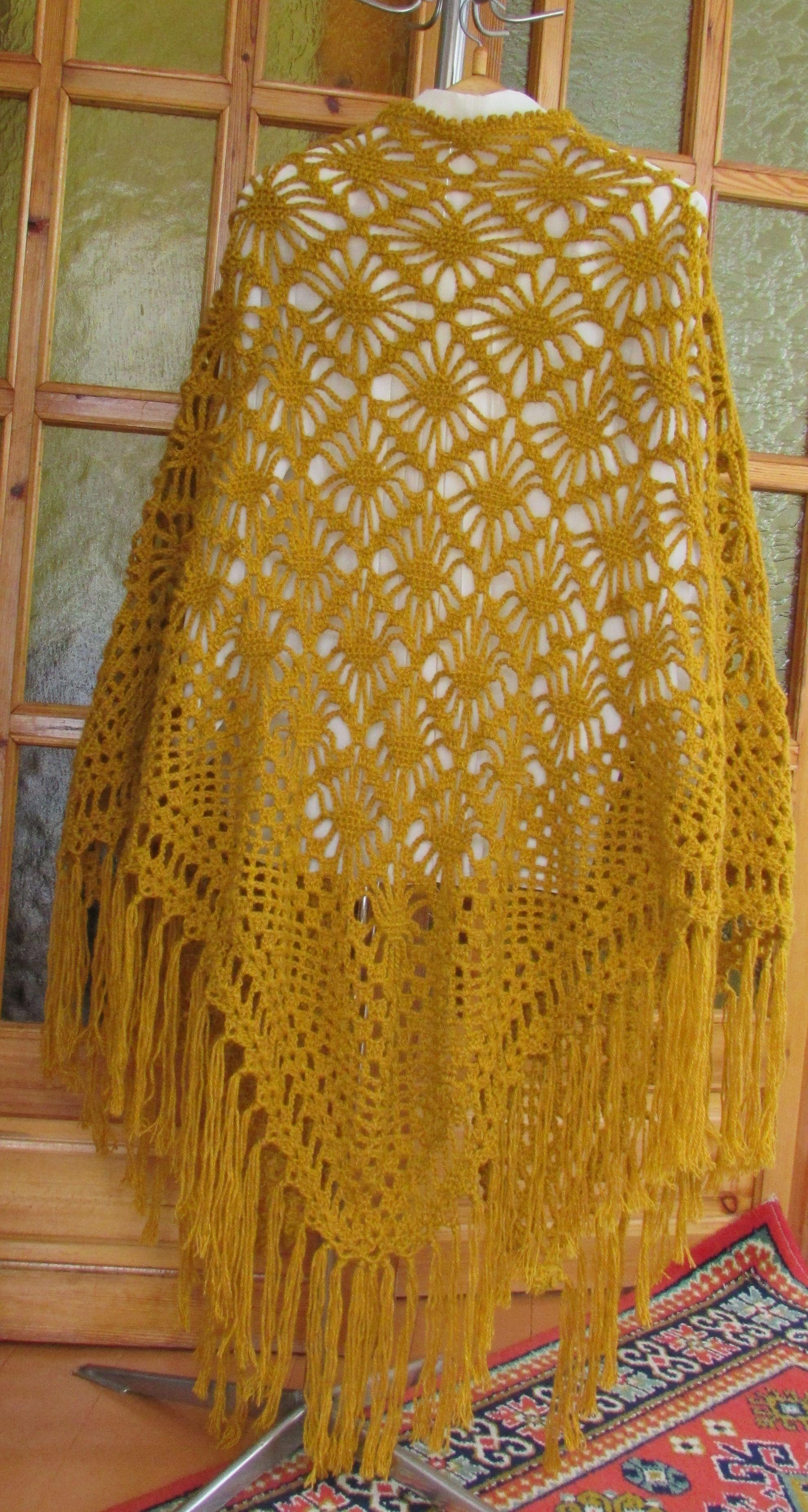 шальшаль крючкомшалишаль ручной работышаль вязаннаяшаль подарокажурная шальаксессуары handmade