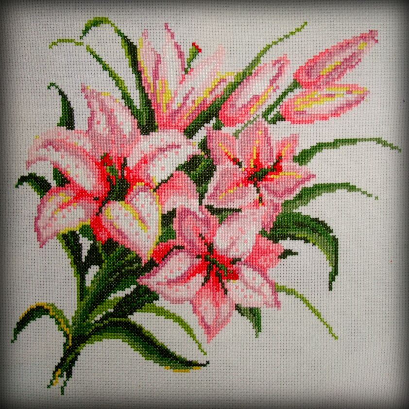 вышивкавышивкакрестомвышивкацветывышивкалилии
