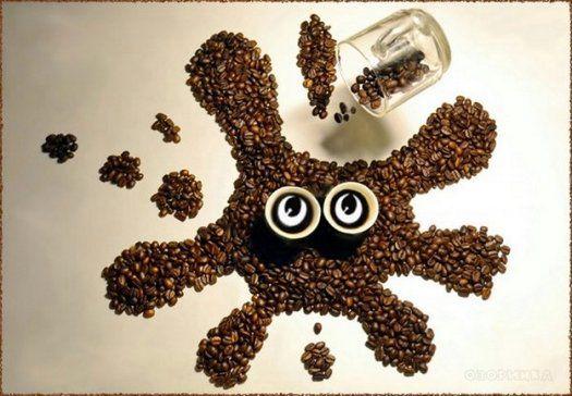 Картины из кофейных зерен 3