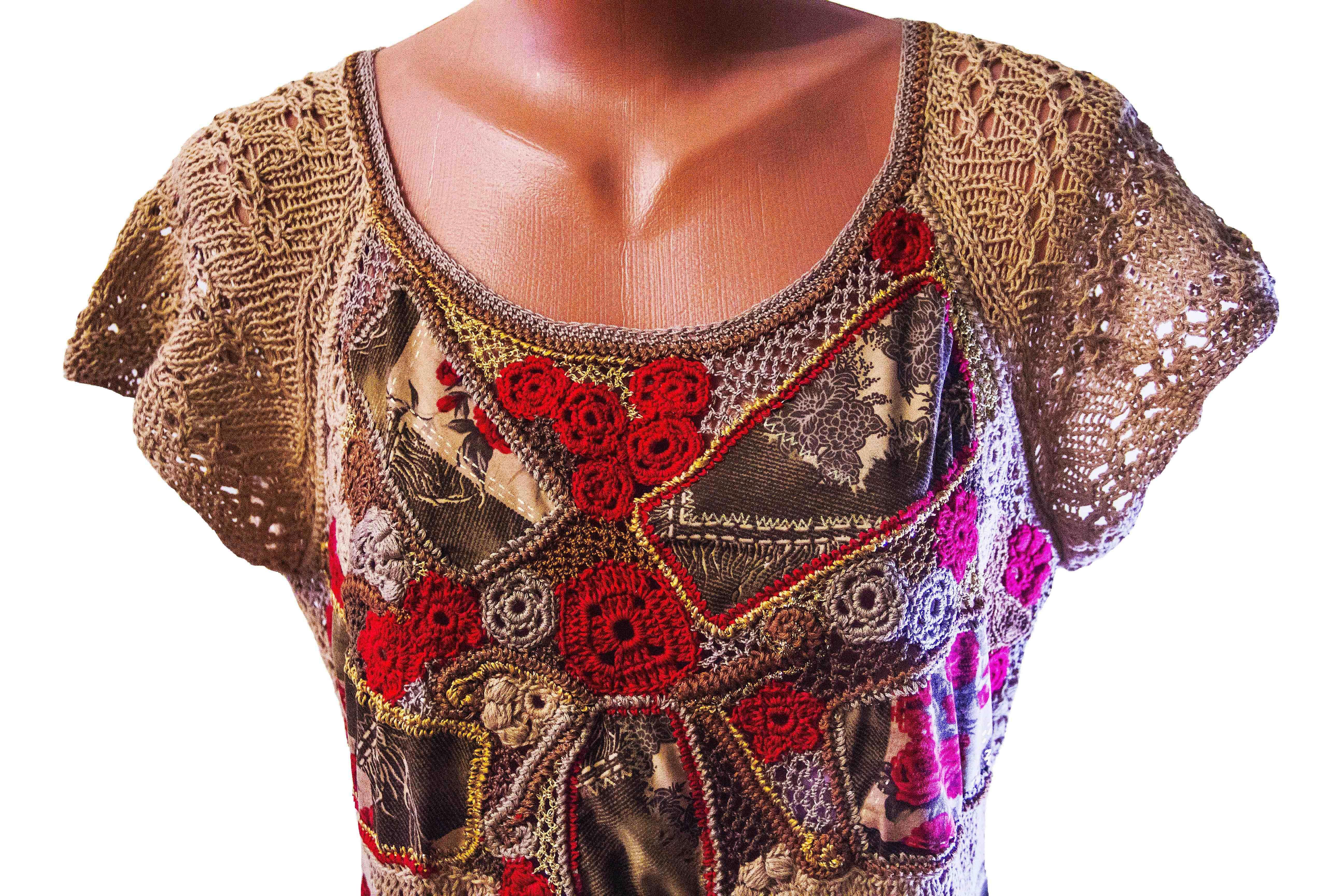 авторское-платье отделка-одежды платье-вязаное отделка-кружевом авторская-ручная-работа наборное-кружево платье