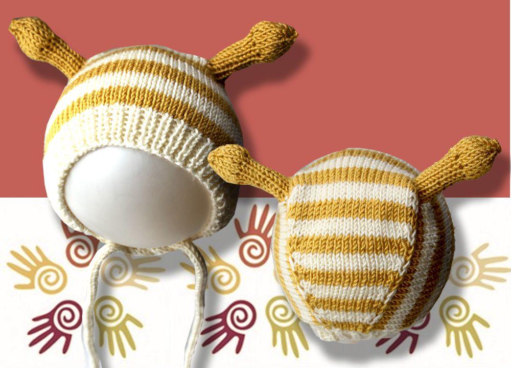 продажа белый чепчик детские желтый спицами шапки работа с ручная для аксессуары детям малыша шапочка рожками и купить полосатая фотосессии шляпы связанное