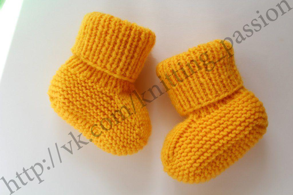 вяжуназаказ пинеткиспицами knitting пинетки
