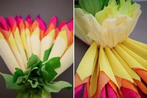 Цветы из гофрированной бумаги своими руками 12