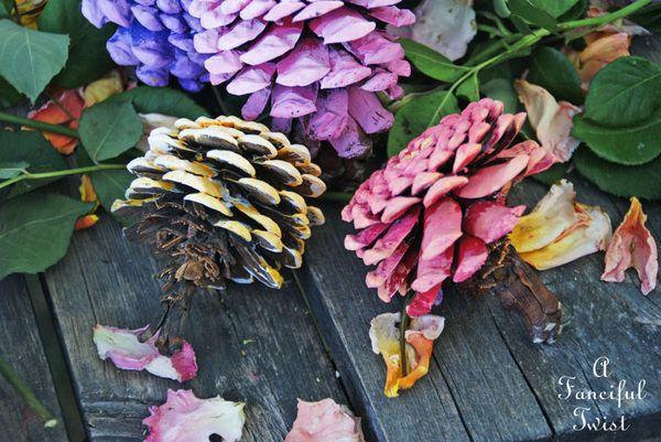 дома цинния шишек декор для из идеи шишки руками цветы своими