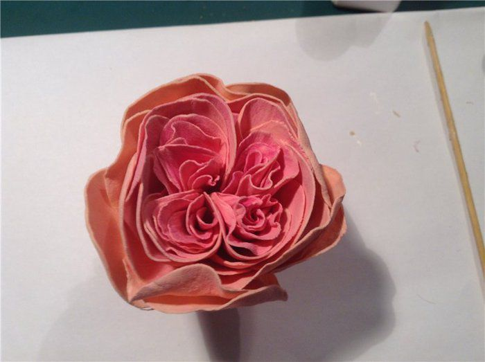 Роза из фоамирана мастер класс 18