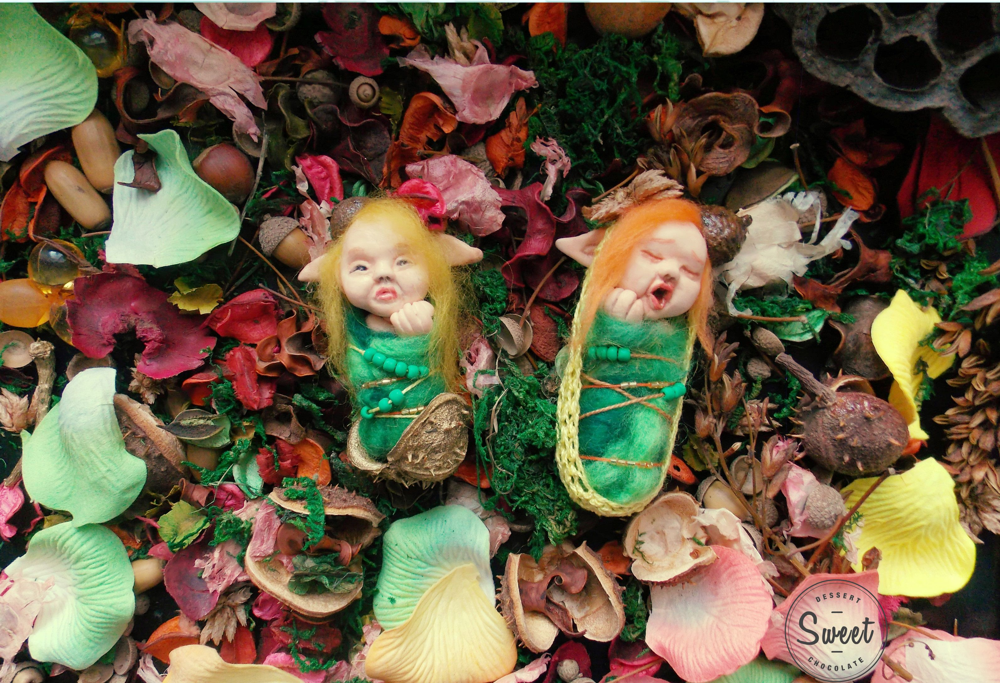 лесной эльфик сказочный ребенок малыш подарок милый эльф