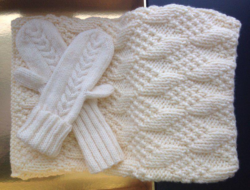 вязание шарфтруба снуд