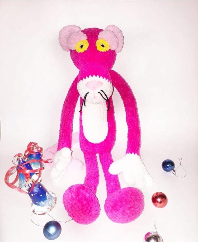 вяжемслюбовью вязаниедлявас крючок пантера вязание нитки розовый желтый своимируками 2000 белый пряжа глазкивинтовые рукоделие творчество вязаниеназаказ