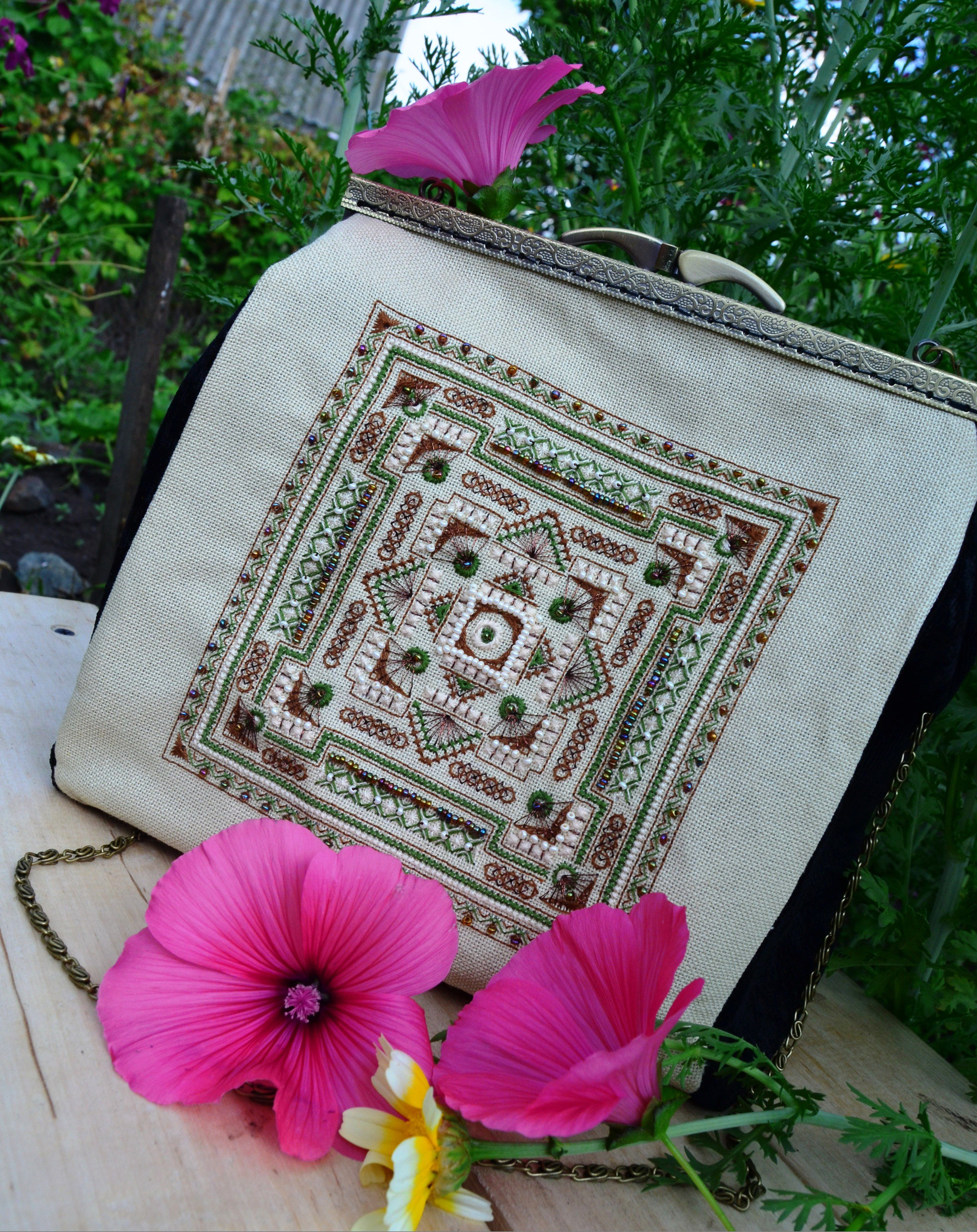 подарок фермуар вышивка вечер сумка
