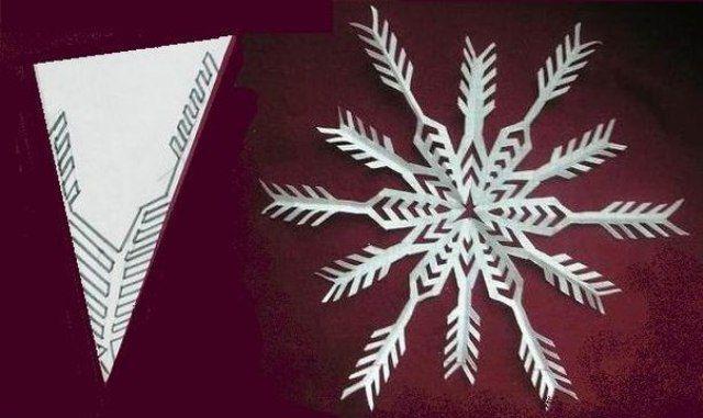 Снежинки из бумаги своими руками 5