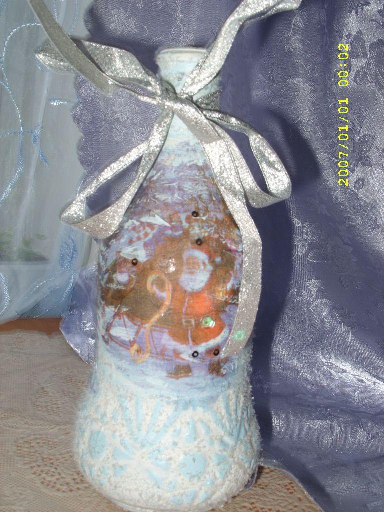бутылки подарок декупаж декоративные