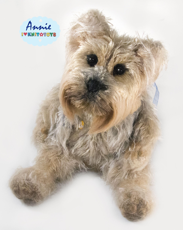собака игрушка вязаная_кукла песик кукла сувенир йорк собачка щенок подарок