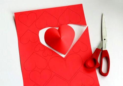 Сердечки из бумаги 2