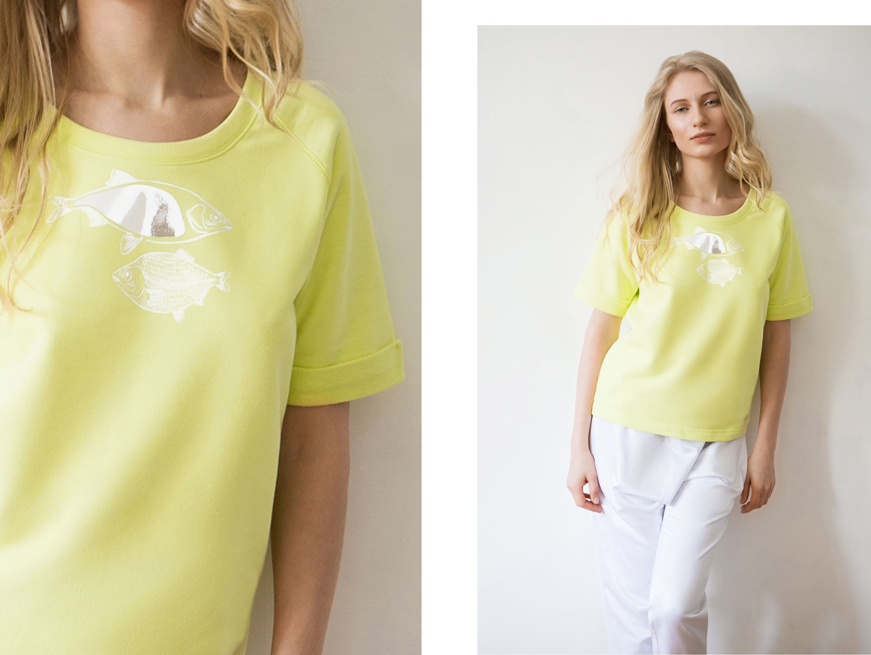 одежда бренд футболка ksusharaikova принт свитшот рыбки