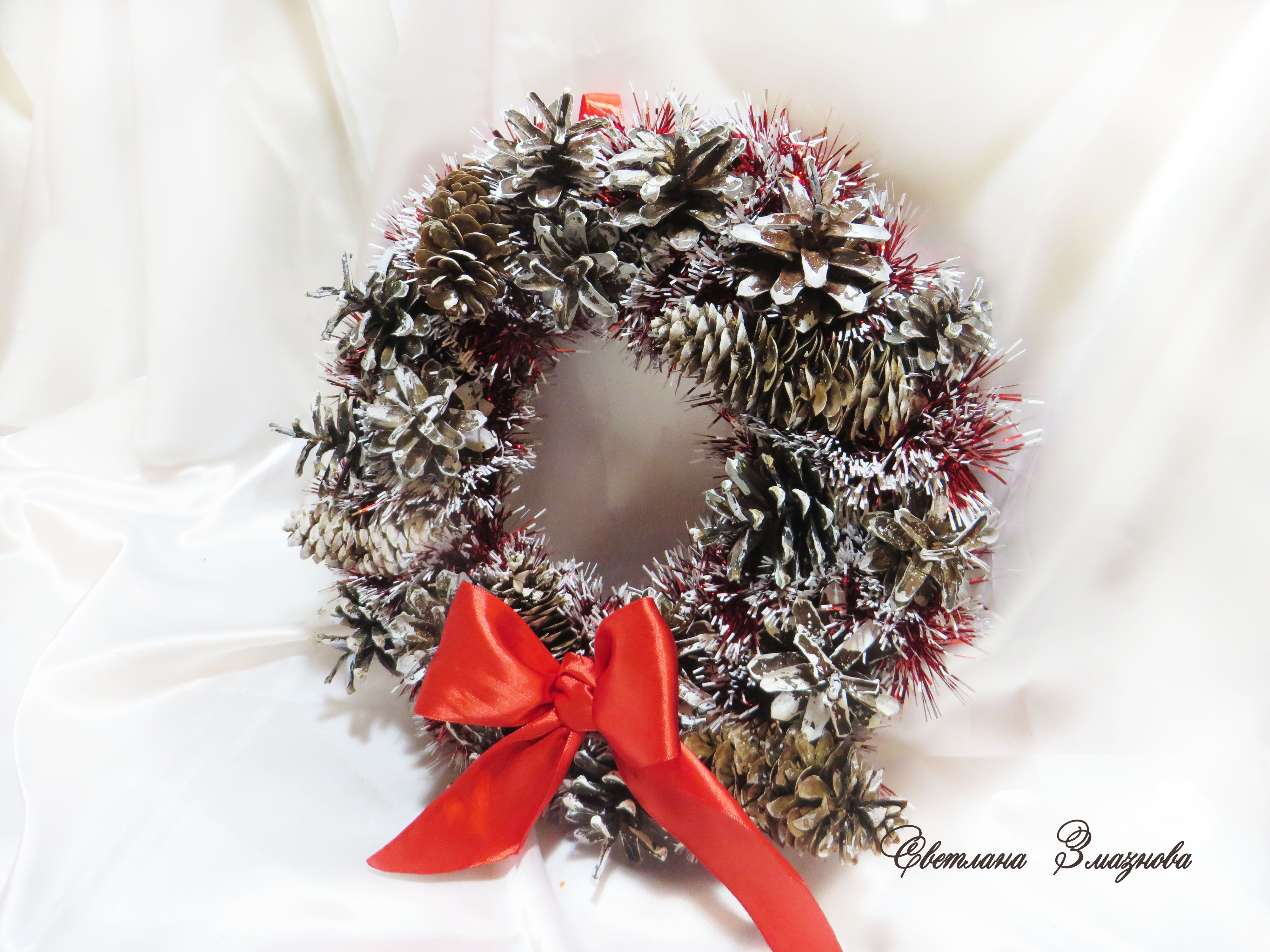 новогодний новый сувенир интерьерный венок год подарок