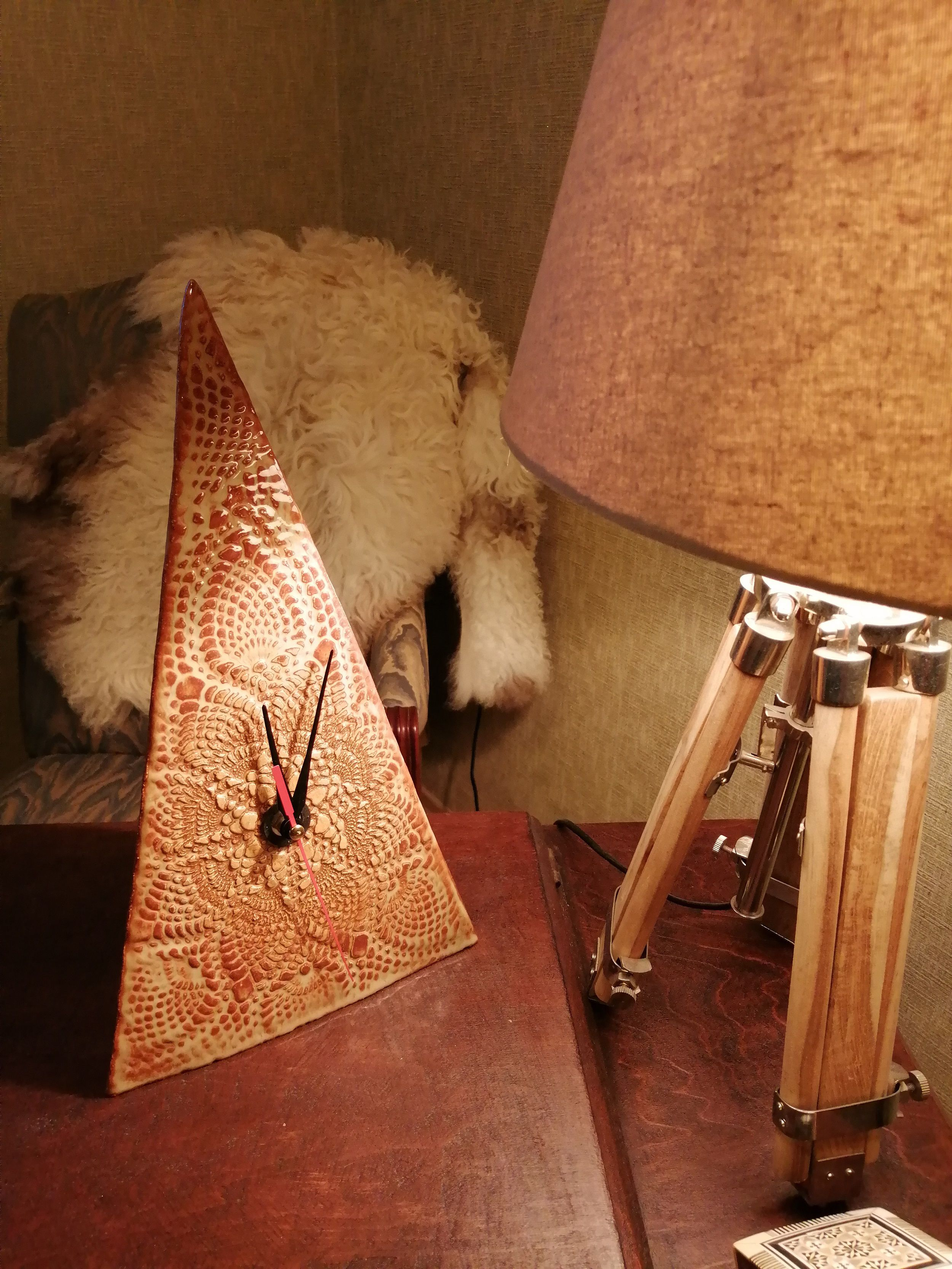 интерьера интерьерные день рождения керамические дома декор керамика глины любой для необычные ручной работы настольные коллеге начальнику подарок случай часы авторские красивые