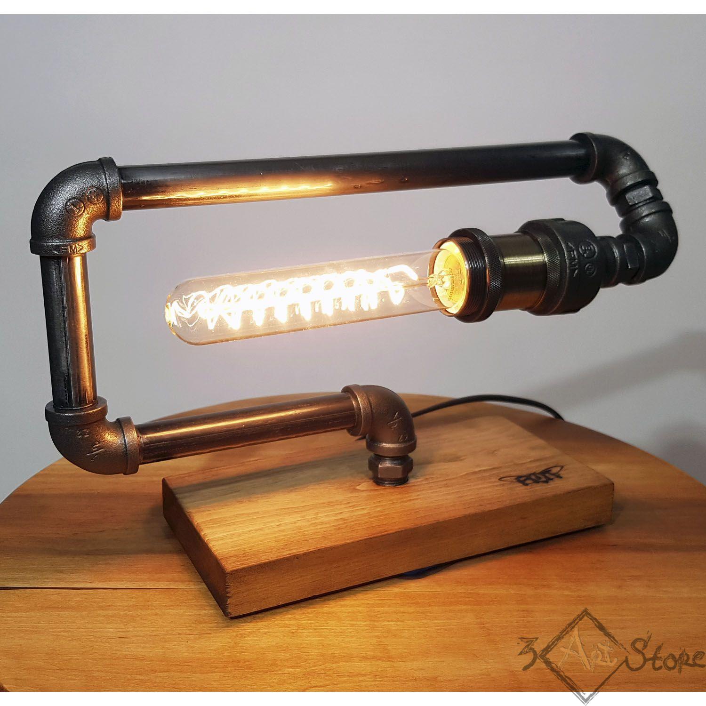 лампадлямужа лофт лампаэдисона декор подарок купитьлампу необычнаялампа ручнаяработа лампалофт