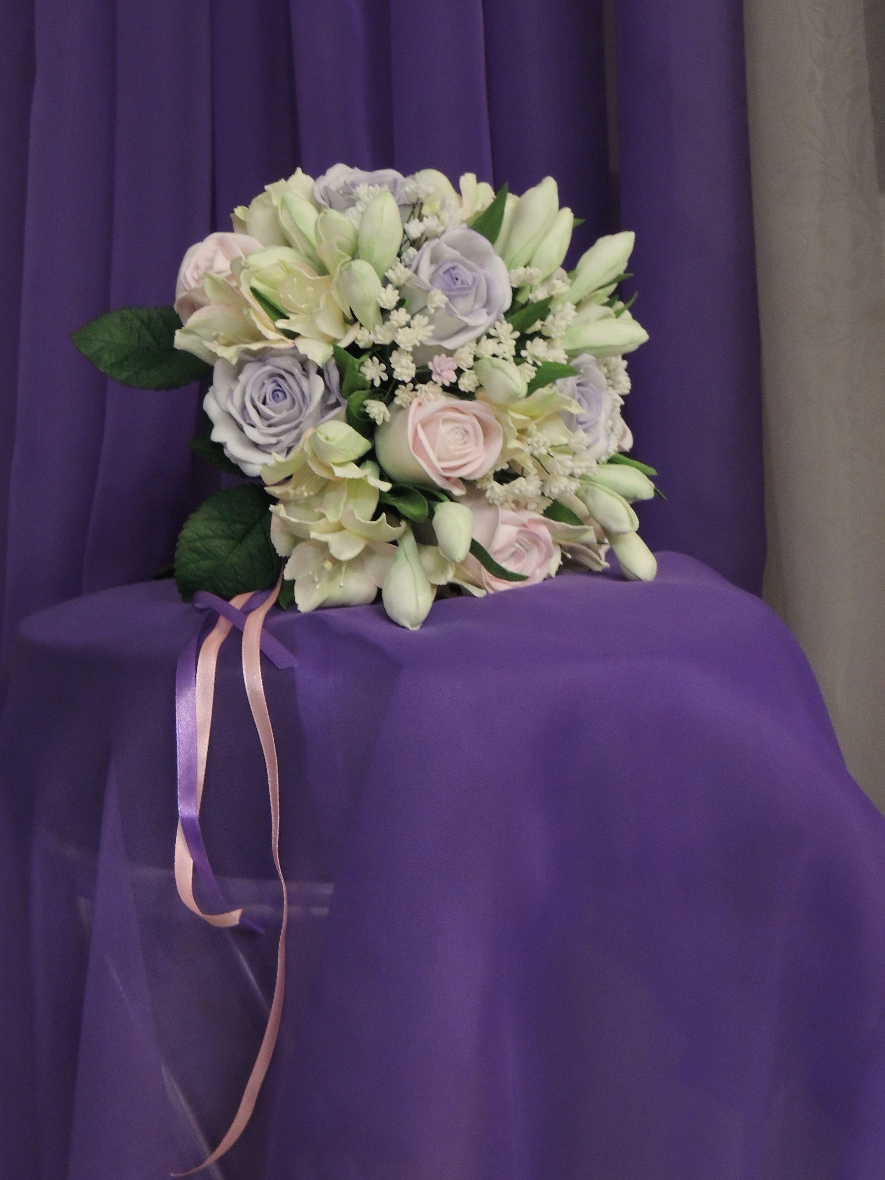 фоамирана невесты композиции букет из флористика интерьерные цветы
