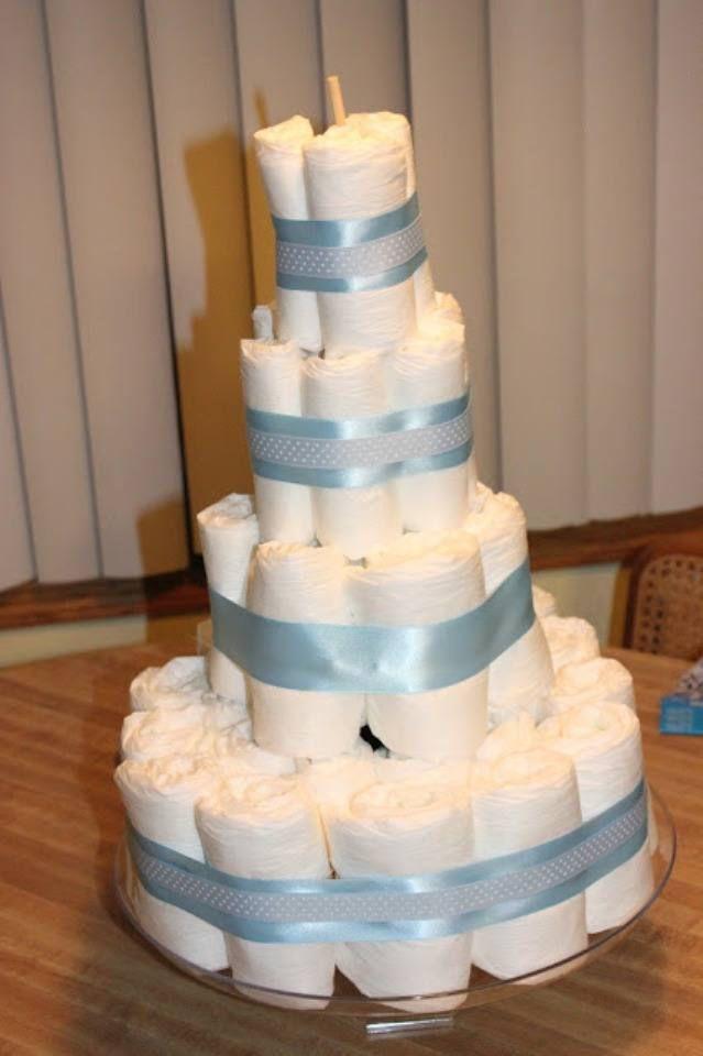 Торт из памперсов своими руками 9