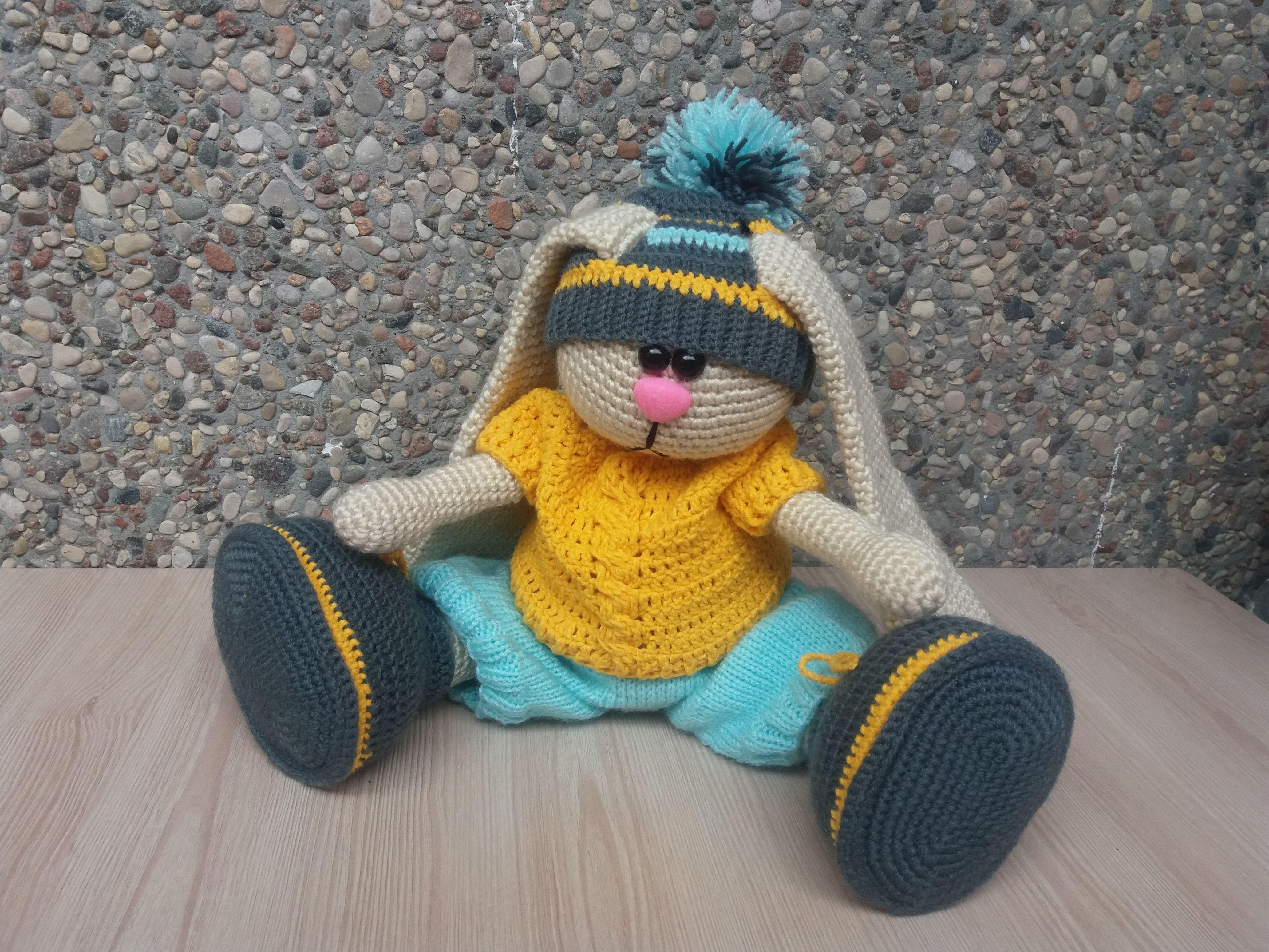 заяц handmade вязание ручная зайка made_by_nika заказ для крючком детей работа подарок