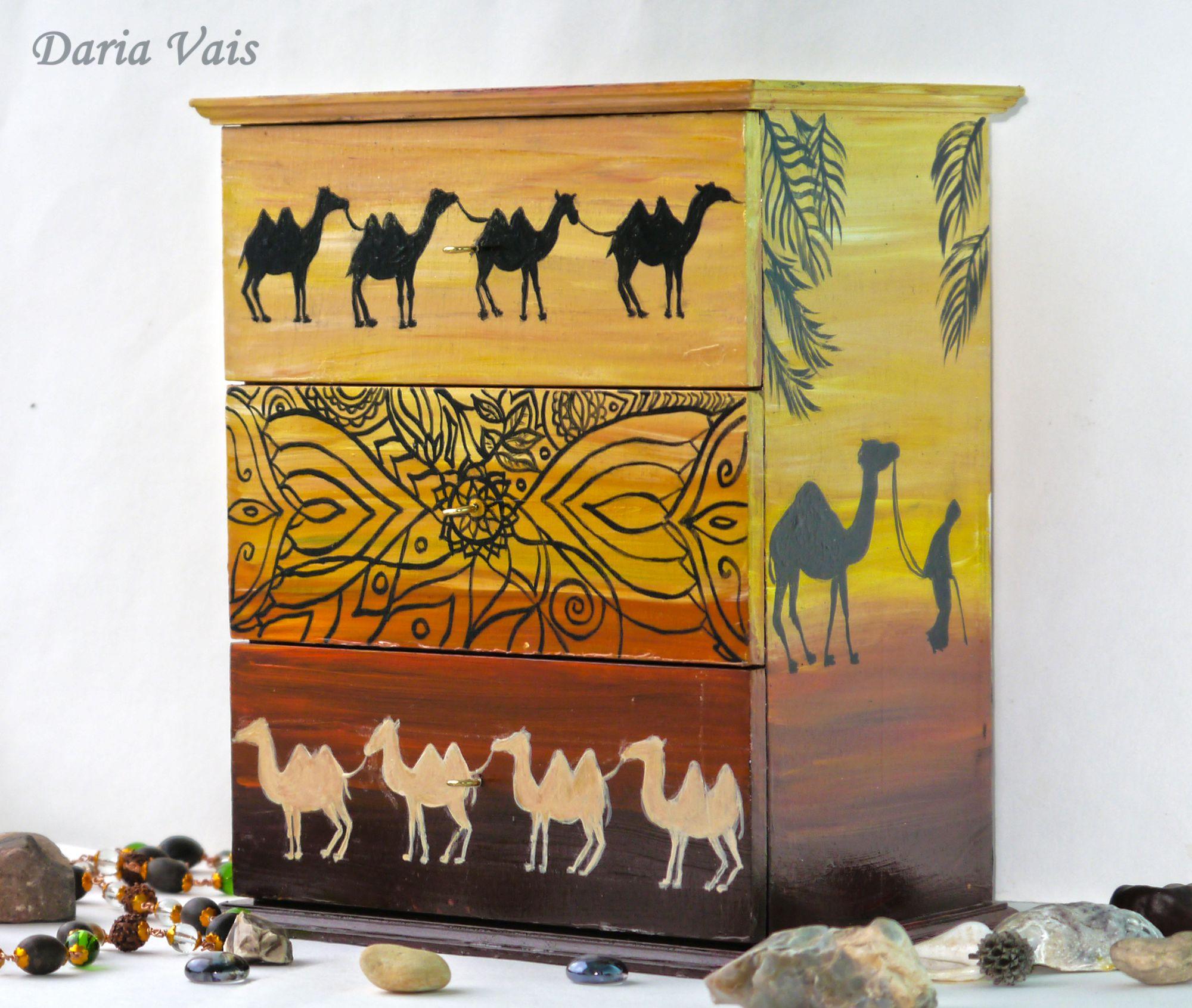 подарок этно интерьер шкатулка пустыня африка деньрождения миникомод