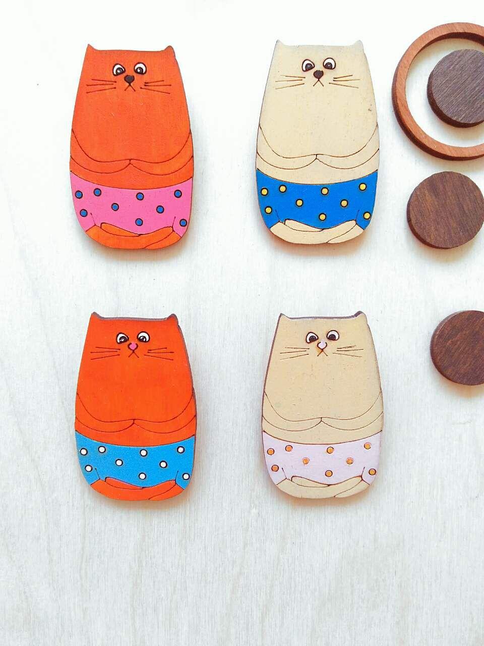 значки котик купить броши заказ брошки украшение украшения значок деревянные ручной дерева деревянная работы брошка