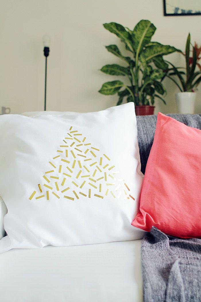 белье фольга подушка декор текстиль интерьер