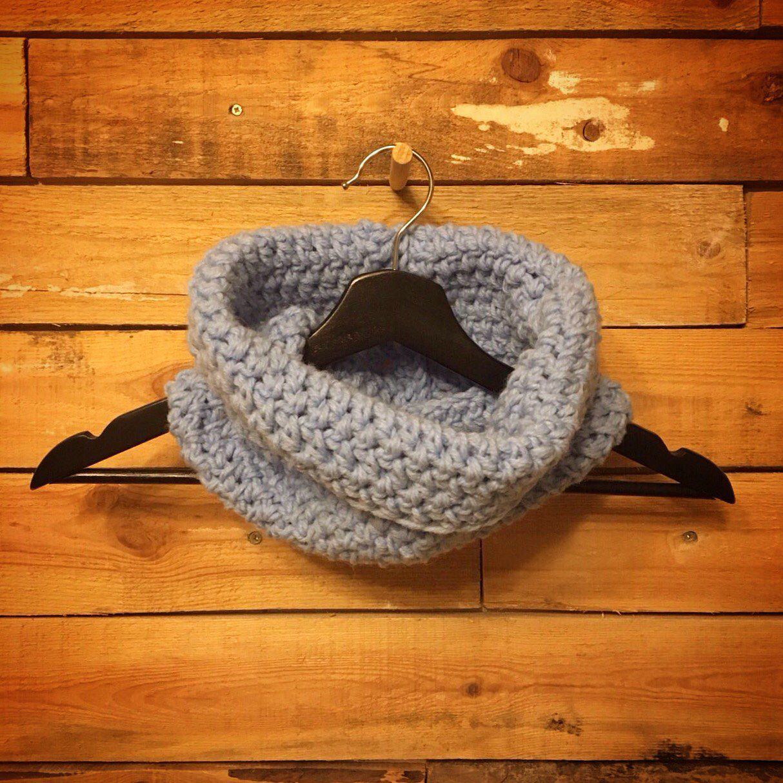 подарок снуд вязание осень зима шарф крючком