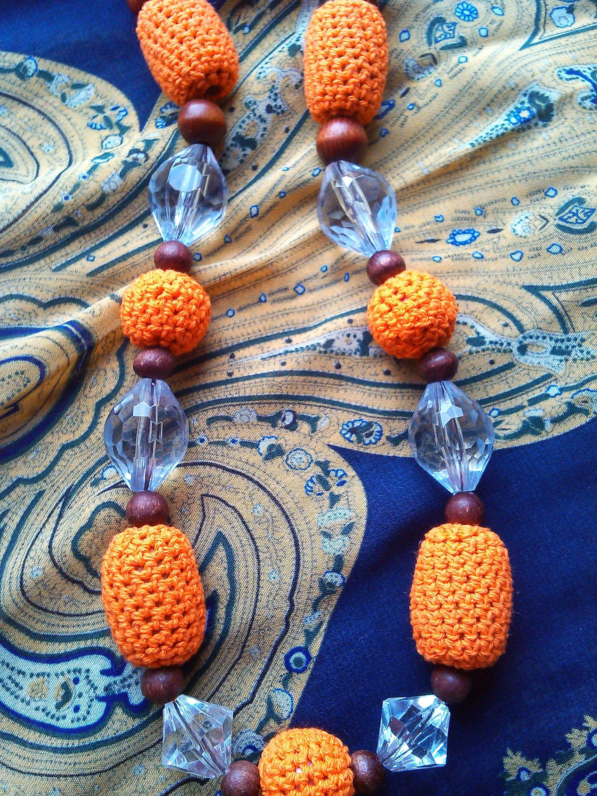 молодежная недорого мода ручной работы украшения вязаные бусы