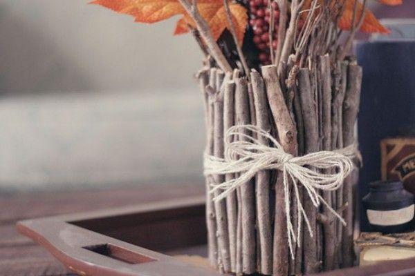 прутики деревянныеподелки идеядлядома декордлядома экостиль сделайсам эковаза вазаизпалочек ваза декор креатив своимируками