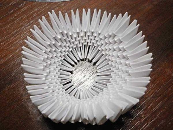 Оригами из бумаги: лебедь 13