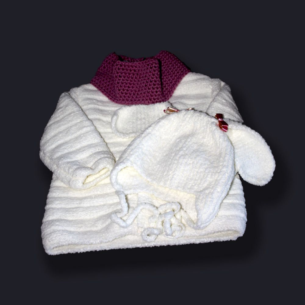 куртка спицами девочки плюшевая плюшевый кролик заячьи детей связано ушанка бантики для детям ушки шапочка заяц зайка крючком комплект шарф белая бант зайчик бантик снуд